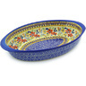 13-inch Stoneware Oval Baker with Handles - Polmedia Polish Pottery H3353F