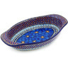 13-inch Stoneware Oval Baker with Handles - Polmedia Polish Pottery H6531G