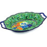 13-inch Stoneware Platter with Handles - Polmedia Polish Pottery H5064G