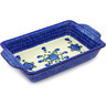 13-inch Stoneware Rectangular Baker with Handles - Polmedia Polish Pottery H6182G