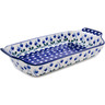 13-inch Stoneware Rectangular Baker with Handles - Polmedia Polish Pottery H9574A