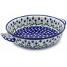 13-inch Stoneware Round Baker with Handles - Polmedia Polish Pottery H0226B