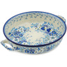 13-inch Stoneware Round Baker with Handles - Polmedia Polish Pottery H1462L
