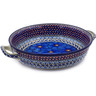 13-inch Stoneware Round Baker with Handles - Polmedia Polish Pottery H2985C