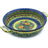 13-inch Stoneware Round Baker with Handles - Polmedia Polish Pottery H4651H