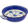 13-inch Stoneware Round Baker with Handles - Polmedia Polish Pottery H5763A
