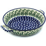 13-inch Stoneware Round Baker with Handles - Polmedia Polish Pottery H5922H