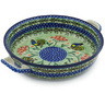 13-inch Stoneware Round Baker with Handles - Polmedia Polish Pottery H8935G