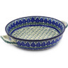 13-inch Stoneware Round Baker with Handles - Polmedia Polish Pottery H9559E