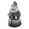 13-inch Stoneware Santa Shaped Jar - Polmedia Polish Pottery H3324K