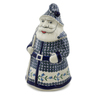 13-inch Stoneware Santa Shaped Jar - Polmedia Polish Pottery H6551K