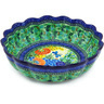 13-inch Stoneware Scalloped Bowl - Polmedia Polish Pottery H5275G