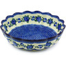 13-inch Stoneware Scalloped Bowl - Polmedia Polish Pottery H5649G