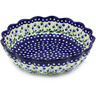 13-inch Stoneware Scalloped Bowl - Polmedia Polish Pottery H5752G