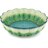 13-inch Stoneware Scalloped Bowl - Polmedia Polish Pottery H6928G