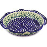 13-inch Stoneware Scalloped Bowl - Polmedia Polish Pottery H8075D