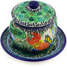 13 oz Stoneware Bouillon Cup with Lid and Saucer - Polmedia Polish Pottery H7660C