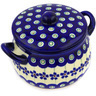 13 oz Stoneware Bouillon Cup with Lid - Polmedia Polish Pottery H2599E