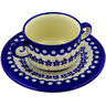 13 oz Stoneware Bouillon Cup with Saucer - Polmedia Polish Pottery H0880A
