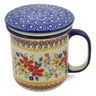 13 oz Stoneware Brewing Mug - Polmedia Polish Pottery H9651J