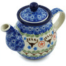 13 oz Stoneware Tea or Coffee Pot - Polmedia Polish Pottery H1339H