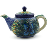 13 oz Stoneware Tea or Coffee Pot - Polmedia Polish Pottery H1728J