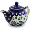 13 oz Stoneware Tea or Coffee Pot - Polmedia Polish Pottery H1870B