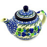 13 oz Stoneware Tea or Coffee Pot - Polmedia Polish Pottery H2229D