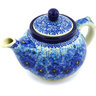 13 oz Stoneware Tea or Coffee Pot - Polmedia Polish Pottery H3207G
