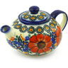 13 oz Stoneware Tea or Coffee Pot - Polmedia Polish Pottery H3394F