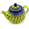13 oz Stoneware Tea or Coffee Pot - Polmedia Polish Pottery H3818D