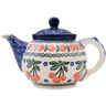 13 oz Stoneware Tea or Coffee Pot - Polmedia Polish Pottery H3819J