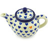 13 oz Stoneware Tea or Coffee Pot - Polmedia Polish Pottery H4052G