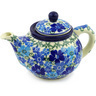 13 oz Stoneware Tea or Coffee Pot - Polmedia Polish Pottery H4370F