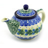 13 oz Stoneware Tea or Coffee Pot - Polmedia Polish Pottery H4481F