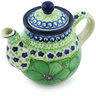 13 oz Stoneware Tea or Coffee Pot - Polmedia Polish Pottery H4780H