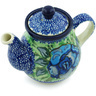 13 oz Stoneware Tea or Coffee Pot - Polmedia Polish Pottery H5189H