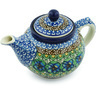 13 oz Stoneware Tea or Coffee Pot - Polmedia Polish Pottery H5193H