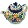 13 oz Stoneware Tea or Coffee Pot - Polmedia Polish Pottery H5200H
