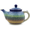 13 oz Stoneware Tea or Coffee Pot - Polmedia Polish Pottery H5672J