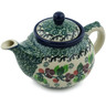 13 oz Stoneware Tea or Coffee Pot - Polmedia Polish Pottery H6929H