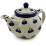 13 oz Stoneware Tea or Coffee Pot - Polmedia Polish Pottery H7043B