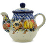 13 oz Stoneware Tea or Coffee Pot - Polmedia Polish Pottery H7300J