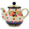 13 oz Stoneware Tea or Coffee Pot - Polmedia Polish Pottery H7304J
