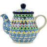13 oz Stoneware Tea or Coffee Pot - Polmedia Polish Pottery H7305J