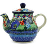 13 oz Stoneware Tea or Coffee Pot - Polmedia Polish Pottery H7311J
