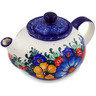 13 oz Stoneware Tea or Coffee Pot - Polmedia Polish Pottery H7895C