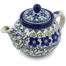 13 oz Stoneware Tea or Coffee Pot - Polmedia Polish Pottery H8335B