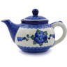 13 oz Stoneware Tea or Coffee Pot - Polmedia Polish Pottery H8547I