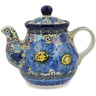13 oz Stoneware Tea or Coffee Pot - Polmedia Polish Pottery H8577I